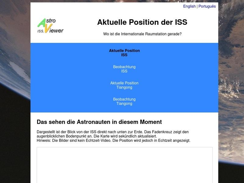 Screenshot von http://iss.de.astroviewer.net/